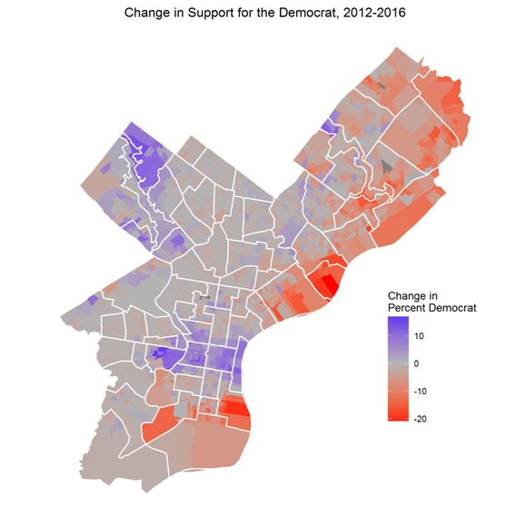 Change In Support For The Democrat