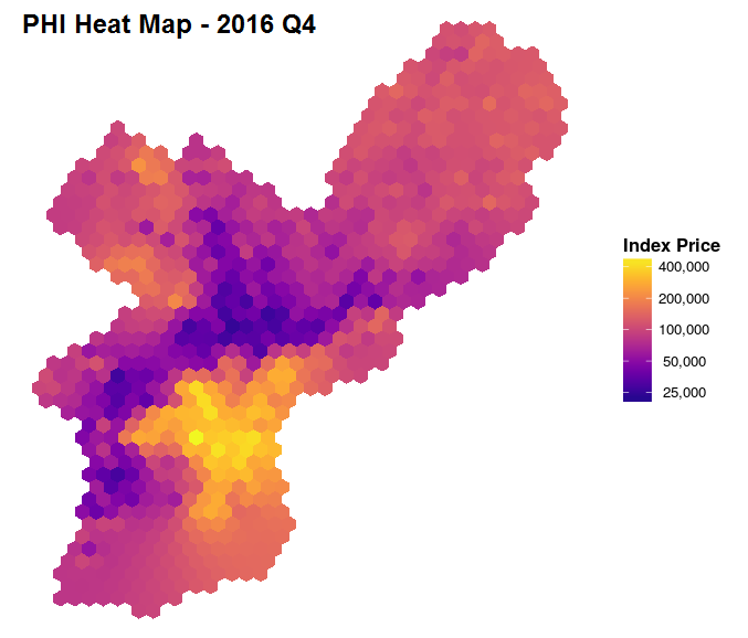 PHL Housing Index Heat Map