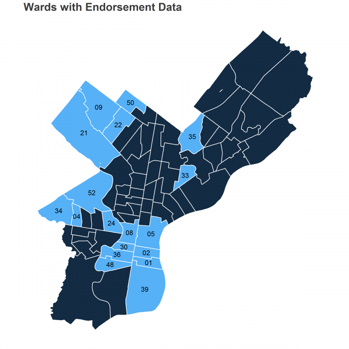 Wards With Endorsement Data